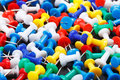 Colorful push pins Royalty Free Stock Photo