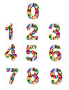 Colorful puzzle numbers Royalty Free Stock Photography