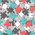 Colorful puzzle pieces seamless pattern Royalty Free Stock Images