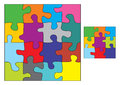 Colorful puzzle vector illustration Royalty Free Stock Photos