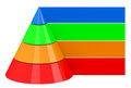 The colorful pyramid d generated picture of a Royalty Free Stock Photography