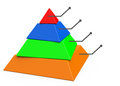 The colorful pyramid d generated picture of a Stock Photo
