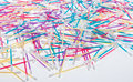 Colorful Q-tips Stock Photo