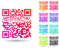 Colorful qr code Stock Images