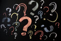 Colorful question marks Royalty Free Stock Photo