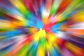 Colorful radial zoom abstract background Stock Image