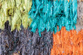 Colorful ragged silk Royalty Free Stock Photos