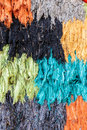 Colorful ragged silk Royalty Free Stock Photo