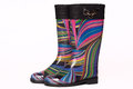 Colorful rain boots