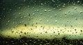 Colorful Rain on the window