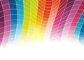 Colorful rainbow background cells clip art Royalty Free Stock Photography