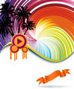 Colorful rainbow discotheque banner Royalty Free Stock Photo