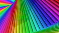 Colorful rainbow sprial abstract background of stacked glass pla Royalty Free Stock Photo