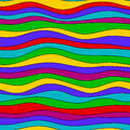 Colorful rainbow wave texture, seamless vector pattern for textile, backdrops, wallpapers, wrapping paper and other. gay