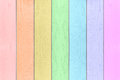 Colorful rainbow wood textured horizontal background. Royalty Free Stock Photo