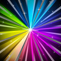 Colorful rays background means shining colors and sparkles meaning Royalty Free Stock Photo