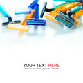 Colorful razor isolate on white background Stock Image