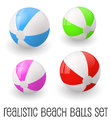 Colorful realistic beach ball vector illustration.