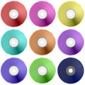 Colorful Realistic Compact  Disc Collection Royalty Free Stock Photo