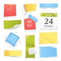 Colorful Realistic Paper Notes Collection