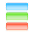 Colorful rectangle web buttons set of vector illustration Stock Image