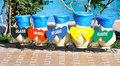 Colorful Recycle Bins Royalty Free Stock Photography