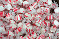 Colorful red and white peppermint salt water taffy Royalty Free Stock Photo