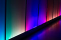 Colorful reflection lighting wall abstract background Royalty Free Stock Photo
