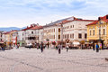 Colorful renovated buildings main square banska bystrica largest city central slovakia Royalty Free Stock Image