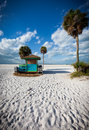 Colorful rental shed on Siesta Cay in Florida's wewst coast Stock Photo