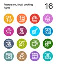 Colorful Restaurant, food, cooking icons for web and mobile design pack 3