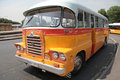 Colorful retro bus a on the streets of valleta malta Royalty Free Stock Photos