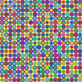 Colorful Retro Dots Stock Photo