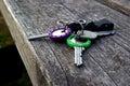 Colorful retro keys Royalty Free Stock Photo