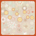 Colorful retro snowflake pattern. EPS 8 Stock Photo