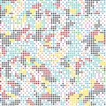 Abstract Colorful Spectrum Tile Square Style Modern Fabric Background Pattern Texture_2
