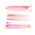 Colorful retro vintage abstract watercolour aquarelle art hand paint on white background Royalty Free Stock Photo