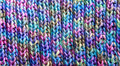Colorful Rib Stitch Knit Pattern Royalty Free Stock Photo