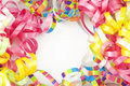 Colorful Ribbon Border With Copy Space Royalty Free Stock Photography