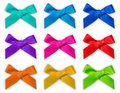 Colorful ribbon bow / bows Stock Photos