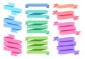 Colorful ribbon set, Royalty Free Stock Photo