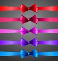 Colorful ribbons with bows vector illustration Stock Image