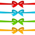 Colorful ribbons with bows on white background Stock Photography