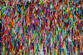 Colorful ribbons in front of Senhor do Bonfim Church in Salvador, Bahia in Brazil.