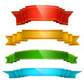 Colorful ribbons set of four Royalty Free Stock Photo