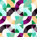 Colorful rings on grey background, modern geometric pattern design
