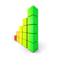 Colorful Rising Bar Graph On White Background Royalty Free Stock Photo