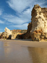 Colorful rock cliffs of the Algarve Stock Photo
