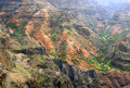 Colorful rock strata Waimea Canyon Stock Photos