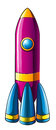 A colorful rocket Stock Photography